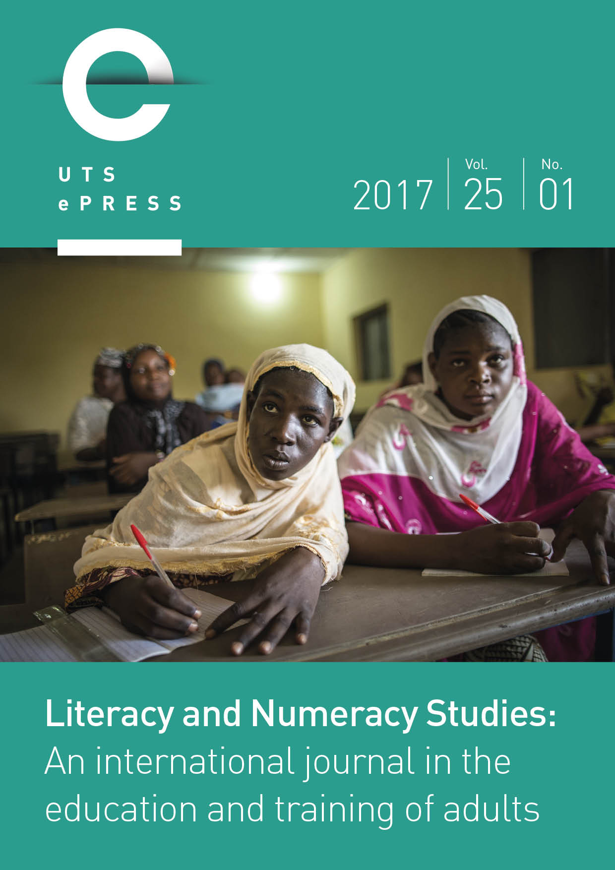 Literacy and Numeracy Studies cover: Volume 25, Issue 1 (2017).
