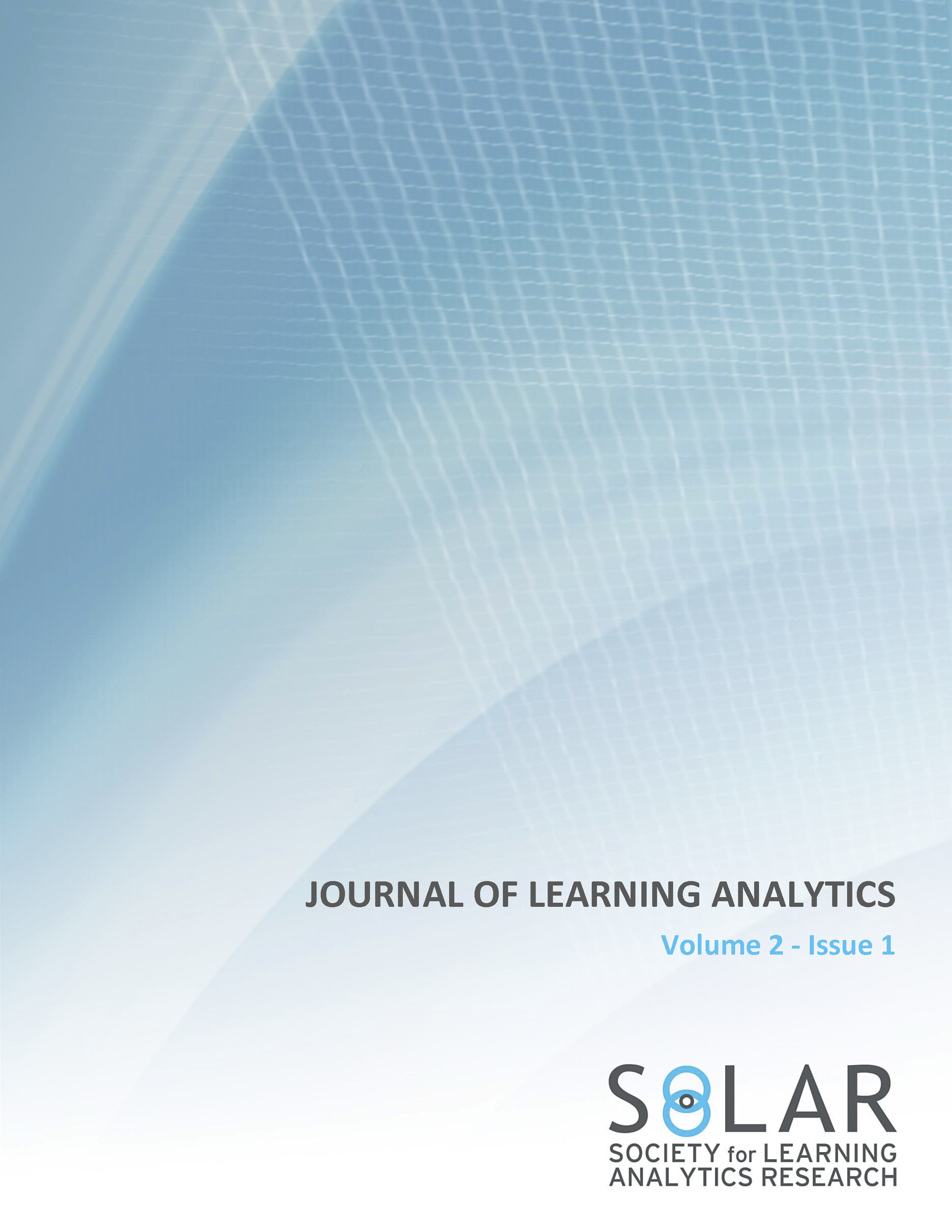 View Vol. 2 No. 1 (2015): Self-Regulated Learning and Learning Analytics