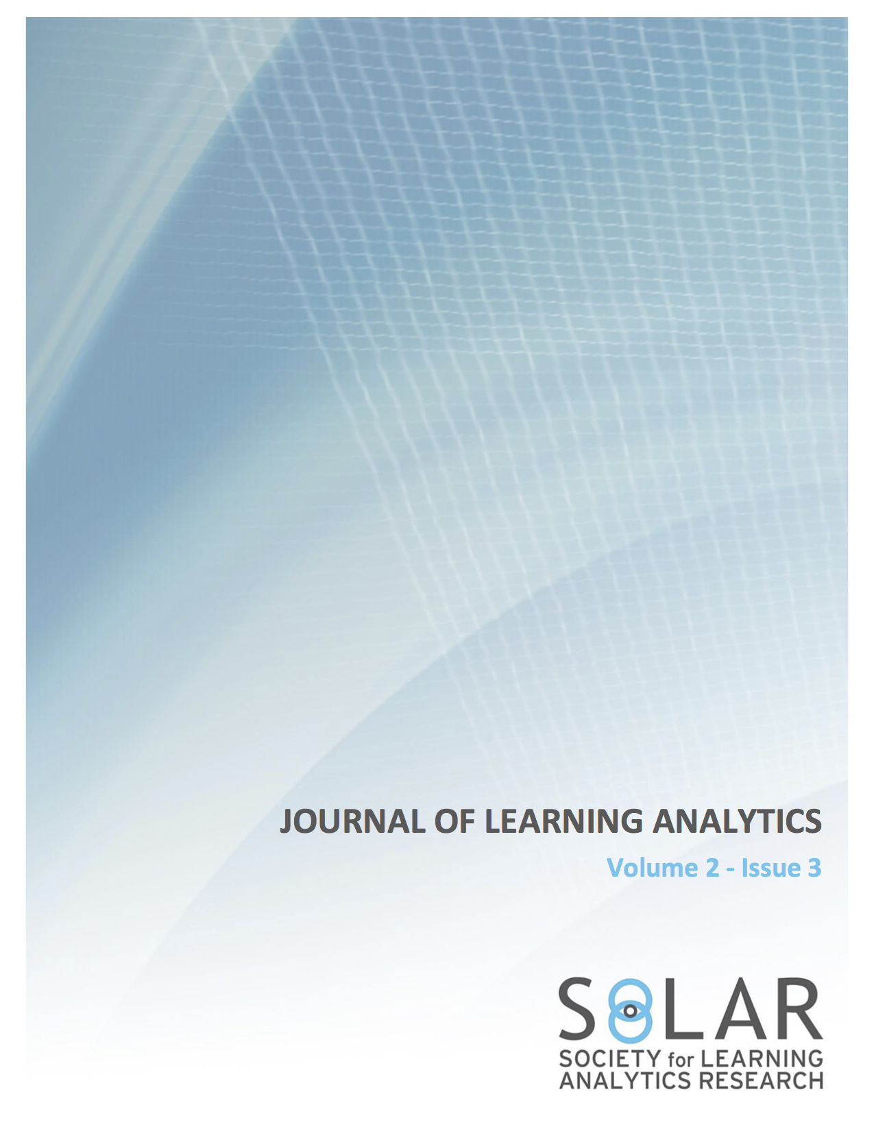 View Vol. 2 No. 3 (2015): Selected and Extended Papers from the Fifth International Conference on Learning Analytics & Knowledge