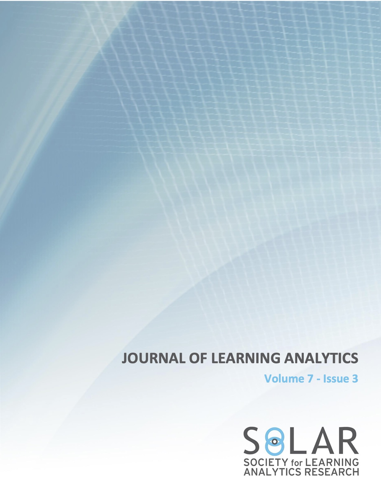 View Vol. 7 No. 3 (2020): Learning Design and Learning Analytics