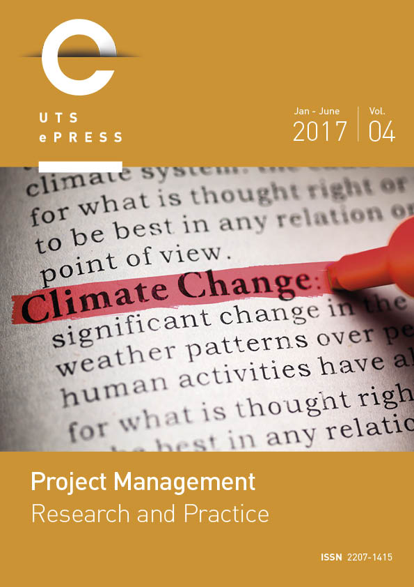 Project Management Research and Practice cover page - Volume 4, 2017